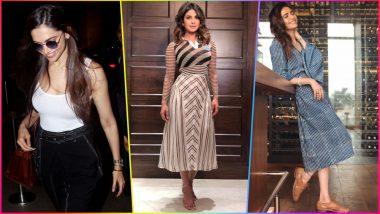 Deepika Padukone, Priyanka Chopra to Karishma Tanna, These Indian Actresses Rocked Monochrome Style Like a Boss! (See Pictures)