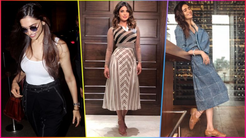 Deepika Padukone, Priyanka Chopra to Karishma Tanna, These Indian Actresses Rocked Monochrome Style Like a Boss! (See Pictures)
