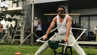 MS Dhoni's Bicycle Stunt Video Is Going Viral, Former Indian Captain Wants Fans to 'Try It at Home'