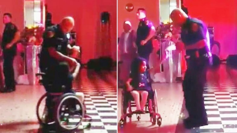 Houston Police Officer Dancing With Little Girl in a Wheelchair Goes Viral (Watch Video)