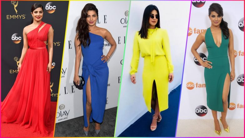 Priyanka Chopra's Best Style Moments in ALL COLOURS! Birthday Girl's Fashion Statement Over the Years in Photos