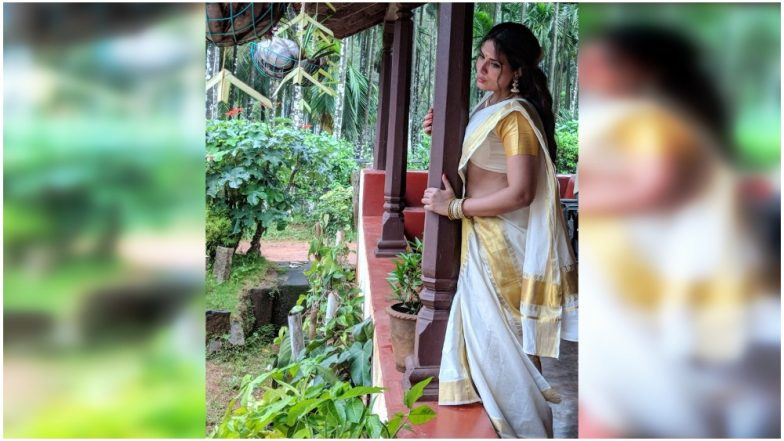 richa chadha goes the mallu way in the first look of her shakeela biopic