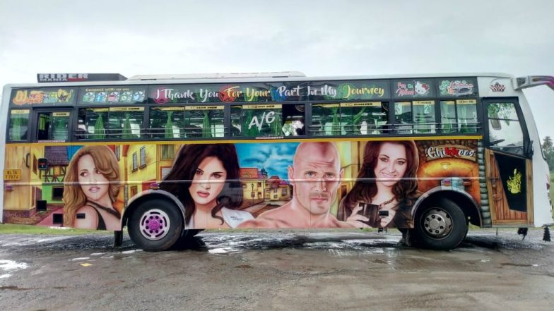 Sunny Leone, Mia Khalifa to Johnny Sins; Tourist Buses with Painting of Porn Stars Are Burning the Streets of Kerala