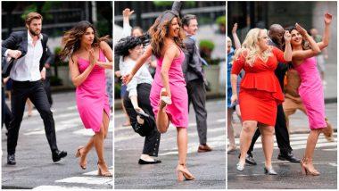 Priyanka Chopra, Liam Hemsworth and Rebel Wilson Dance Like No One's Watching on 'Isn't It Romantic' Sets (View Pics)