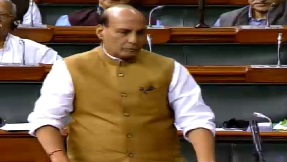 Terrorism in Kashmir Close to Nil Post Article 370 Repeal, J&K on Path to Normalcy: Rajnath Singh Tells Lok Sabha