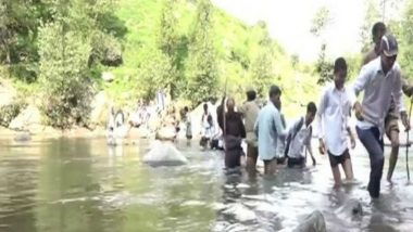 Danger! Students in Jammu and Kashmir Cross Tawi River Every Day to Reach School