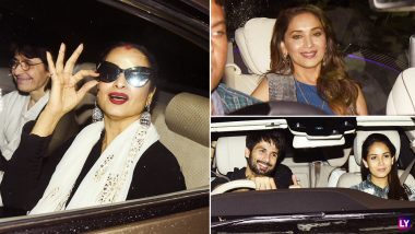 Dhadak Movie Screening: Shahid Kapoor, Mira Rajput, Malaika Arora, Rekha Flock Over to Yashraj to Watch Janhvi Kapoor's Debut Film With Ishaan Khatter - View Pics