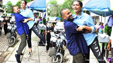 Ranveer Singh Who? Anand Ahuja Is The New Eccentric Guy in B-Town! Lifts Sonam Kapoor Up in the Middle of the Road - See Pics
