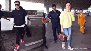 Kareena Kapoor Khan And Karan Johar's Fashion Face Off At The Airport Is Amazeballs!