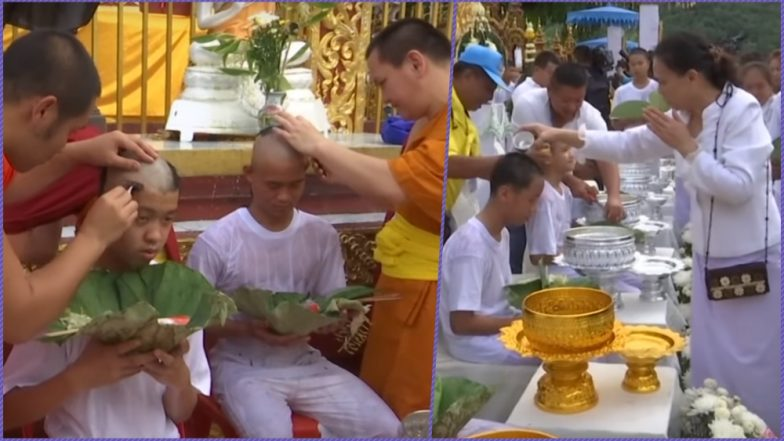Thailand Football Team Boys Rescued From the Cave Are Ordained As Buddhist Novices; Watch Video