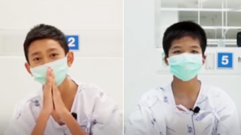 Watch Video of Thai Cave Boys Saying 'Thank You' From the Hospital to All the Supporters