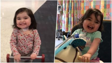 Two-Year-Old Massachusetts Toddler Battling With Lung Disease, Walks Out of Hospital for the First Time! Watch the Heart Melting Video