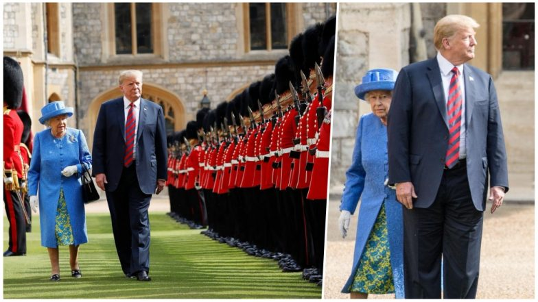 Donald Trump Criticised on Twitter As He Broke the Royal Protocol Twice! Walks in Front of the Queen Elizabeth and Makes Her Wait, Watch Videos