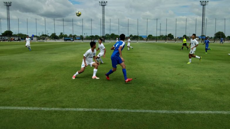 India U-16s National Football Team Beat Thailand's Buriram United U-17 Team 2-0