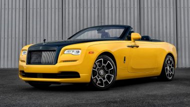 Google's Top Executive Drives Home a Customised Rolls-Royce Dawn Black at Pebble Beach