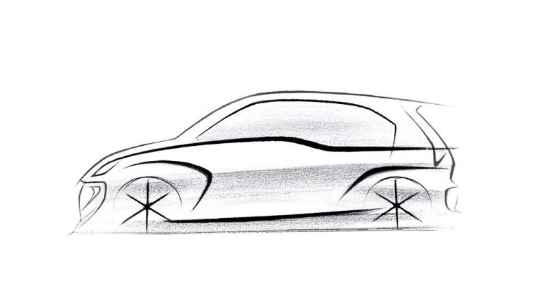 Hyundai AH2 Hatchback Official Design Sketch Revealed; India Launch Around Diwali