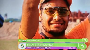 Lakshay Sheoran Claims Silver Medal in Men's Trap Shooting, India's 2018 Asian Games Medal Tally Moves to 4