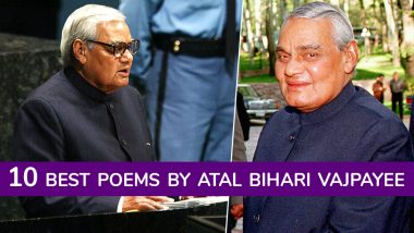 Atal Bihari Vajpayee as a Poet: Listen to 10 Best Poems by the Former Indian Prime Minister (Watch Video)