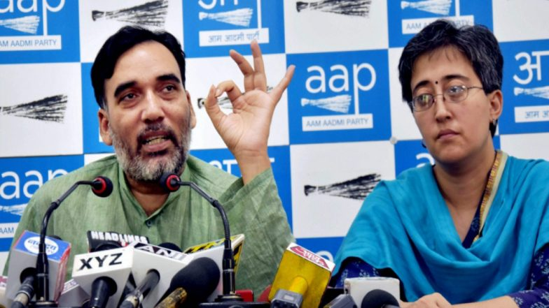 AAP Delhi Leader Atishi Caught in Name Row Again, Banner Shows Her