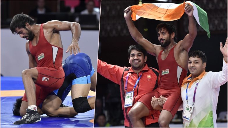 Bajrang Punia Wins First 2018 Asian Games Gold Medal for India: Wrestler Beats Daichi Takatani 11–8 in Men's Freestyle 65kg Category