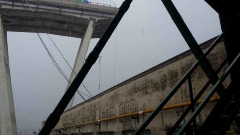 Italy Bridge Collapse Video: 12 Dead in Motorway Bridge Collapse at Genoa