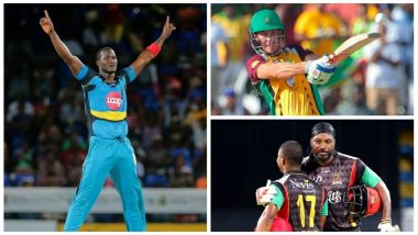 CPL Video Highlights: Watch Chris Gayle Century, Chris Lynnsanity, DJ Bravo and Other Best Moments in Caribbean Premier League History!