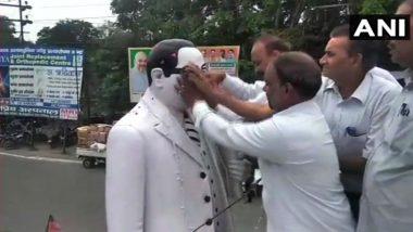 Meerut: Dalit Lawyers Purify Ambedkar's Statue After Rakesh Sinha, BJP Leader Garland It
