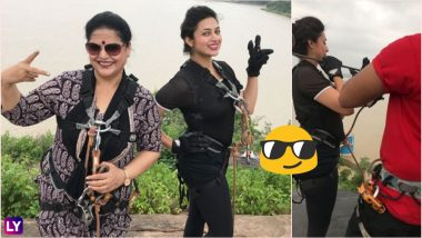 Divyanka Tripathi and Her Mother Zipline Over Kerwa Dam Lake in Bhopal, the Longest Twin Zip in Asia! See Video of YHM Actress in Most Badass Avatar