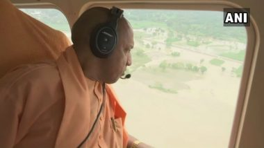 UP CM Yogi Adityanath Conducts Aerial Survey of Flood-affected Districts