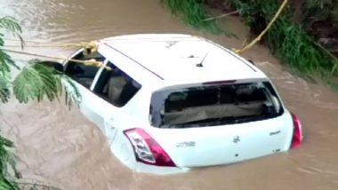 Madhya Pradesh: Four People Die After Car Washed Away In Overflowing Drain In Mandsaur, Watch Video