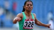 Dutee Chand Misses a Spot for Semi-Finals In Women's 100 Meter Heat 5, Shelly Ann Fraser-Pryce Won The Race (Watch Video)