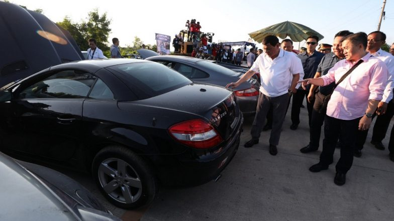 After Drug War, Philippines' Duterte Crushes $5.5million Worth of Luxury Cars In Anti-Corruption Drive