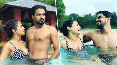 Hina Khan Enjoys a Romantic Vacation With Beau Rocky Jaiswal, Raises OOMPH in Sexy Black Bikini – See Pool Pics
