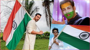 Independence Day 2018 GIF Images: Shah Rukh Khan, Akshay Kumar, Salman Khan Inspired I-Day GIFs and Animated Stickers Are a Must Send This 15th August!