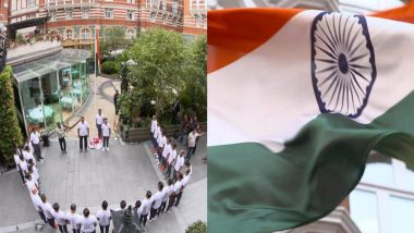 Indian Cricket Team Hoists Tricolour in UK on Independence Day