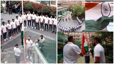 Watch Ravi Shastri, Virat Kohli Hoist Indian Flag on 72nd Independence Day in England; Kuldeep Yadav, Jasprit Bumrah Share Pictures