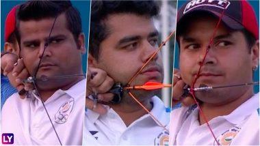 Indian Men's Compound Archery Team Enters Final in Asian Games 2018: Troika Rajat Chauhan, Aman Saini and Abhishek Verma Beat Taiwan 230–227