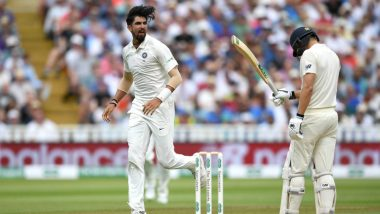 Ishant Sharma Fined 15% of Match Fees for Breaching ICC Code of Conduct During England vs India First Test Match