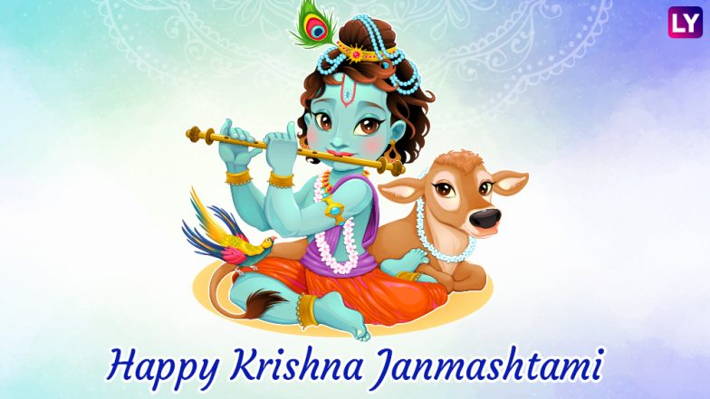 Janmashtami 2018 Greetings Best WhatsApp Messages GIF Images Facebook Status SMS To