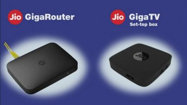 GigaFiber: Reliance Jio Starts Registration for Optical Fibre Based Broadband Service