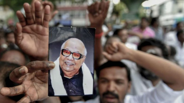 Karunanidhi Funeral Schedule, Date & Time: Last Rites of Dravidian Stalwart to be Held at Marina Today