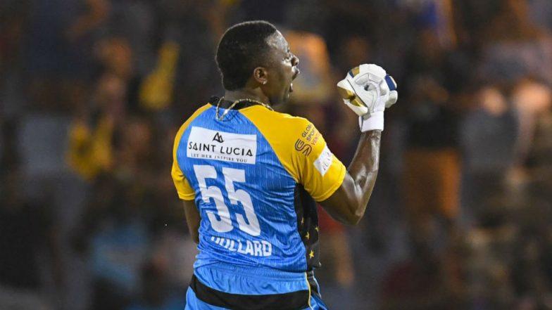 CPL 2018: Kieron Pollard's Maiden T20 Century Hands St Lucia Stars First Win of the Season, Watch Video