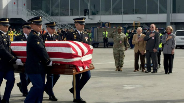Remains of 55 US Soldiers Killed in 1950-53 Korean War Arrive at Pearl Harbor
