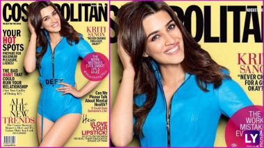 Kriti Sanon Dazzles in Azure Blue Leotard on Cosmopolitan India Mag Cover, but It's Her Million Dollar Smile That Wooed Our Hearts (See Picture)