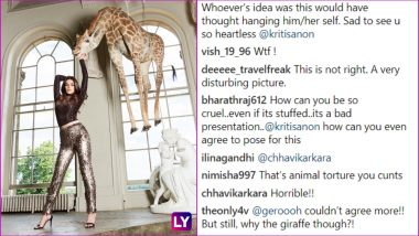 Kriti Sanon Posing With Giraffe Taxidermy in Controversial Cover Photo Leaves Everyone Angry and No Amount of Explanation Can Do the Damage Control Now