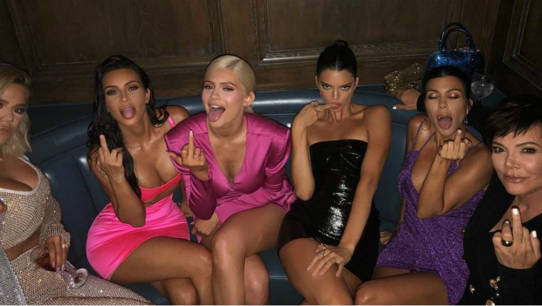 Kylie Jenner 21st Birthday: Sister Kendall Posts a Sensual Pic With Kim, Khloe, Kourtney Kardashian and Kris Jenner Giving the Middle Finger!