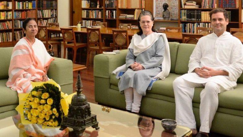 Mamata Banerjee Accuses Congress of Taking RSS Help in West Bengal Lok Sabha Elections 2019, Rahul Gandhi Hits Back