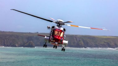 Indian Coast Guard Helicopter Rescues Army Man Off Goa Beach (Watch Video)