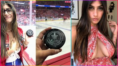 Mia Khalifa Injures Breast After Hit by Stray Hockey Puck, Former Porn Star to Undergo Surgery for 'Deflated' Boob Implant (See Pics)