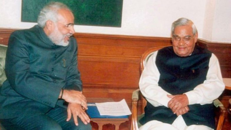 Atal Bihari Vajpayee Was a Blessing to India: Narendra Modi Pays Moving Tribute to His 'Guru'